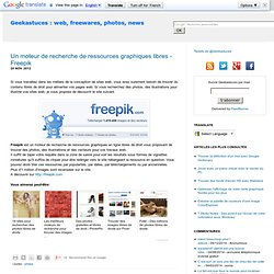 Un moteur de recherche de ressources graphiques libres - Freepik
