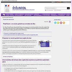 Baccalauréat - Les exemples de sujets - ÉduSCOL