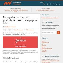 Le top des ressources gratuites en Web design pour 2012 Magazine du Webdesign
