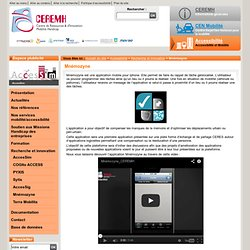 Mnémozyne - CEREMH - Centre de REssources et d'innovation Mobilité HandicapMnémozyne