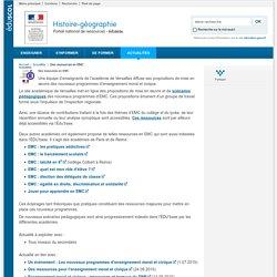 Des ressources en EMC-Histoire-géographie-Éduscol