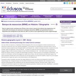 BRNE - Banque de ressources en Histoire / Géographie