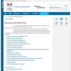 Ressources MOOC HG5-Histoire-géographie-Éduscol