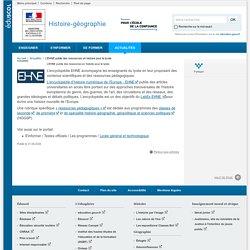 L'EHNE publie des ressources en histoire pour le lycée-Histoire-géographie-Éduscol