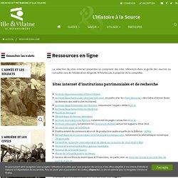 Ressources en ligne · Histoire à la source
