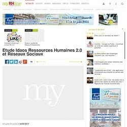 Etude Idaos Ressources Humaines 2.0 et Réseaux Sociaux