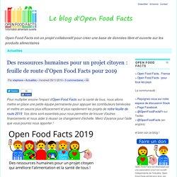 Des ressources humaines pour un projet citoyen: feuille de route d'Open Food Facts pour 2019