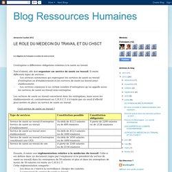 A7 CHSCT - Blog Ressources Humaines: LE ROLE DU MEDECIN DU TRAVAIL ET DU CHSCT