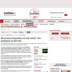 Ressources humaines et web social : des pratiques en devenir