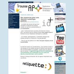 Des ressources pour une identité numérique positive