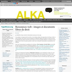 Ressources web : images et documents libres de droit