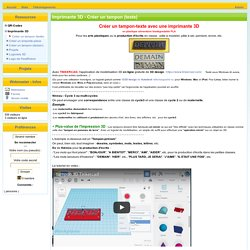 Ressources TICE pour l'école - Imprimante 3D - Créer un tampon (texte)