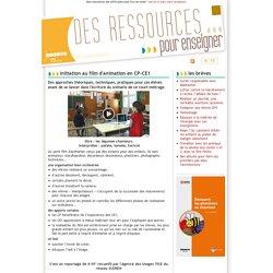 Des ressources pour enseigner, lettre d'information du CRDP de Franche-Comté: Initiation au film d'animation en CP-CE1
