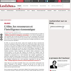 lite, les ressources et l'intelligence conomique - Blogs Mar