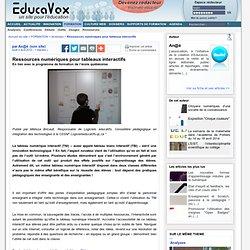 Ressources numériques pour tableaux interactifs