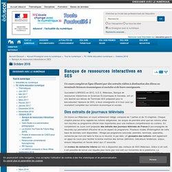 Banque de ressources interactives en SES — Enseigner avec le numérique