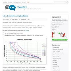 UX : le scroll n'est plus tabou[ Usaddict: Ressources sur l'ergonomie des interfaces (le blog Usabilis)]