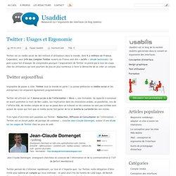 Twitter : Usages et Ergonomie
