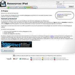 Ressources iPad: À Propos