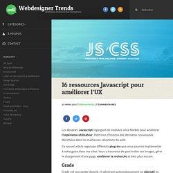16 ressources Javascript pour améliorer l'UX