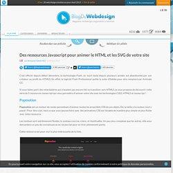 Des ressources Javascript pour animer le HTML et les SVG de votre site