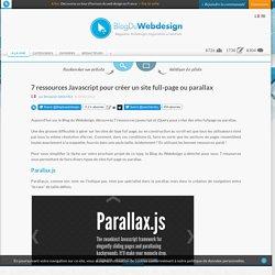 7 ressources Javascript pour créer un site full-page ou parallax