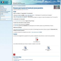 Ressources pour la journée de formation des lycéens journalistes - Formations du CLEMI Aix-Marseille