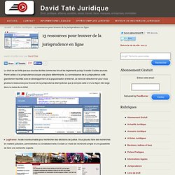 13 ressources pr trouver jurisprudence en ligne