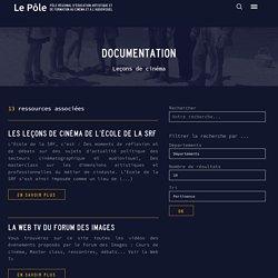 Ressources : Leçons de cinéma