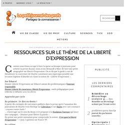 Ressources sur le thème de la liberté d'expression