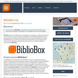 BiblioBox.net - BiblioBox.net - Ressources des BiblioBox, LibraryBox, PirateBox