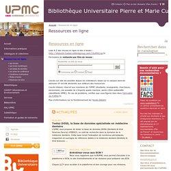 UPMC Ressources en ligne