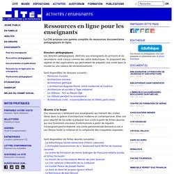 Ressources en ligne pour les enseignants