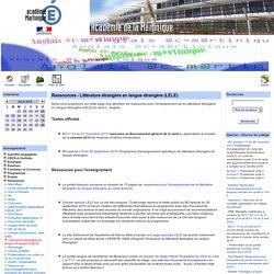 Ressources - Littérature étrangère en langue étrangère (LELE)