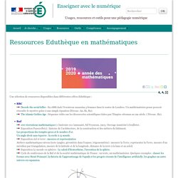 Ressources Eduthèque en mathématiques