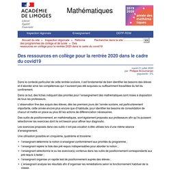Ressources pour le collège - Mathématiques