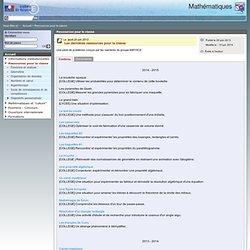 Ressources pour la classe - Mathématiques