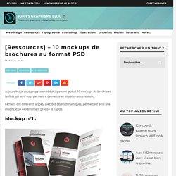 [Ressources] - 10 mockups de brochures au format PSD