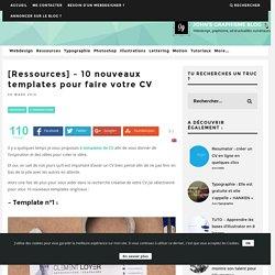 [Ressources] - 10 nouveaux templates pour faire votre CV