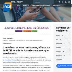 33 ateliers, et leurs ressources, offerts par le RÉCIT lors de la Journée du numérique en éducation - Récit
