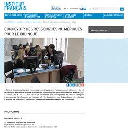 Concevoir des ressources numériques pour le bilingue