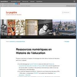 Ressources numériques en Histoire de l'éducation