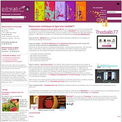 Ressources numériques en ligne avec medialib77