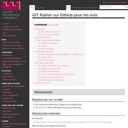 GIT Publier sur GitHub pour les nuls — Centre de Ressources Numériques - Labomedia