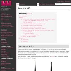 Routeur wifi — Centre de Ressources Numériques - Labomedia