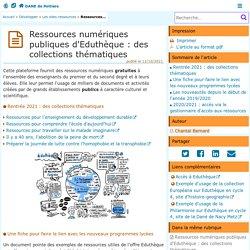Ressources numériques publiques d'Eduthèque : les nouveautés de la rentrée 2019 - DANE de Poitiers