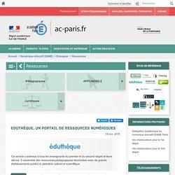 Eduthèque, un portail de ressources numériques