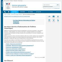 Ressources numériques pour enseigner-Histoire-géographie-Éduscol