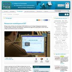 L'Agence nationale des Usages des TICE - Ressources numériques et ENT