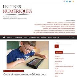 Outils et ressources numériques pour l'autisme